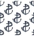 Ship anchors nautical seamless pattern vector image