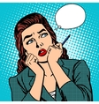 woman thinks work businesswoman vector image