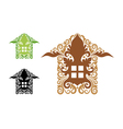 House decorations vector image