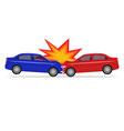 a cartoon car accident vector image vector image