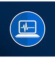 computer diagnostics icon laptop test isolated vector image