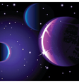 abstract space landscape - vector image vector image