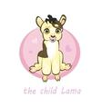 Sweetie baby llamas newborn sitting vector image