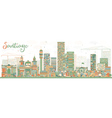 Abstract Santiago Chile Skyline vector image vector image