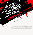 abstract grunge black friday sale design vector image