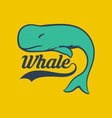 Bright Whale Logo vector image
