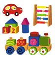 colorful wooden toys vector image