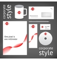 Corporate style template vector image