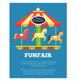 funfair advertisement poster vector image