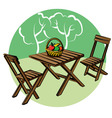 garden furniture vector image