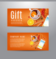 gift voucher with autumn composition vector image