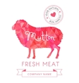 Image meat symbol mutton silhouettes of animal for vector image