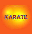 karate theme word art vector image