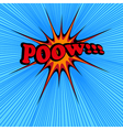 Pow comic text vector image