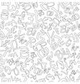 Seamless Pattern of Random Currencies vector image