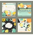 Trendy set of brush strokes cards vector image