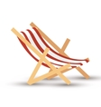 chair beach isolated icon vector image