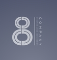 Number 8 eight transparent logo icon design vector image