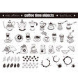 coffee time objects vector image