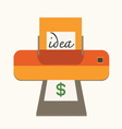 idea with make money concept vector image vector image