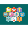Flat composition of educations components vector image