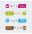 Modern template with colorful volume elements of vector image