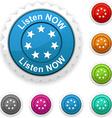 Listen now award vector image