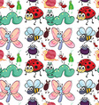 Seamless insect vector image vector image