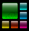 Glassy buttons vector image vector image