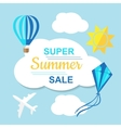Super Summer Sale Banner vector image vector image