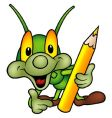 cartoon bug vector image