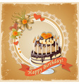 scrapbooking birthday card with cake tier and text vector image