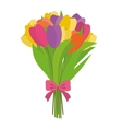 Beauty flower bouquet vector image