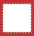 Christmas Candy Cane Frame vector image