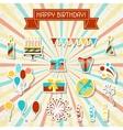 Happy Birthday party sticker icons set vector image