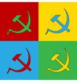 Pop art communist symbols vector image