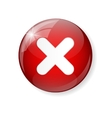 Red Check Mark Icon Button vector image