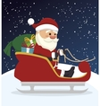santa claus in carriage isolated icon design vector image