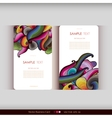 Set of two abstract hand-drawn waves cards vector image