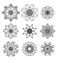 Silhouettes of Snowflakes vector image