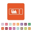 The blank train ticket icon Travel symbol Flat vector image