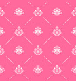 wallpaper seamless baroque in pink color vector image