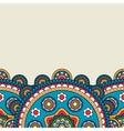 Floral mandala bright colored border vector image