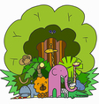 Company Cartoon Animals vector image