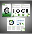 tyre brochure design vector image