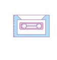 retro cassete to listen kind music vector image