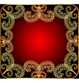 background with the frame with gold ornament vector image