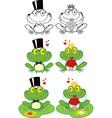 Frog cartoons vector image vector image