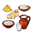 Set of dairy products vector image