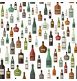 bottles pattern of drinks vector image